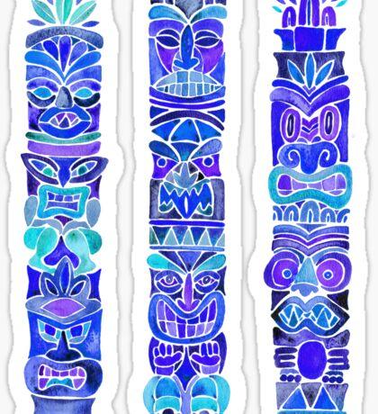 Tiki Totems – Indigo Palette Sticker