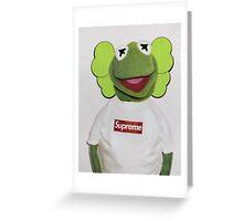 Kermit x kaws  Greeting Card