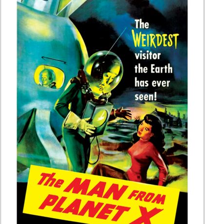 The Man From Planet X Sticker