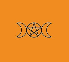 Pentagram Triple Goddess by PaganGal