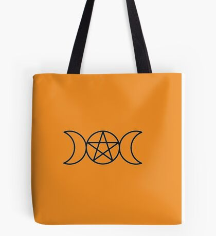 Pentagram Triple Goddess Tote Bag