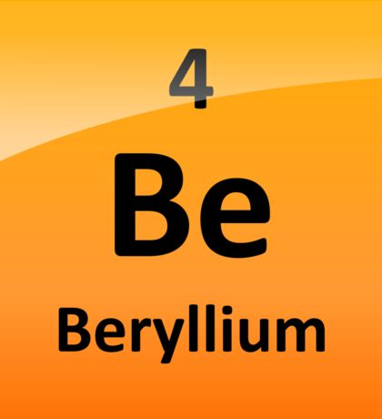 Beryllium Element Tile - Periodic Table Sticker