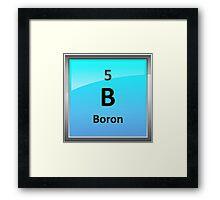 Boron Element Tile - Periodic Table Framed Print