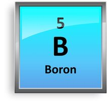 Boron Element Tile - Periodic Table Canvas Print