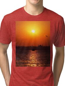 sunset in Istanbul Tri-blend T-Shirt