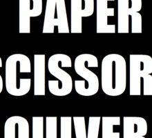 Rock Paper Scissors Quiver Nock Sticker