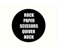 Rock Paper Scissors Quiver Nock Art Print