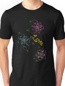 Love and Flowers Unisex T-Shirt