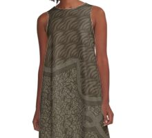 Brown abstract patterns A-Line Dress