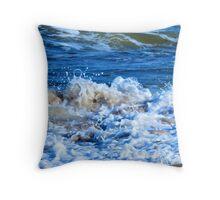 Plum Island Surf Throw Pillow