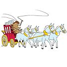 A cockroach driving a stagecoach by Joel Tarling
