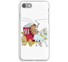 A cockroach driving a stagecoach iPhone Case/Skin