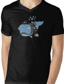 Lemmy the Whale Mens V-Neck T-Shirt