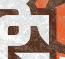 Bowling Green State University destroyed logo Sticker