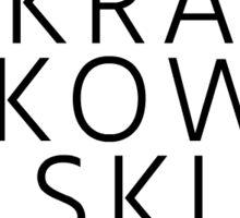 jane krakowski - circle Sticker