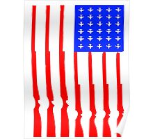 USA Flag Military Power Poster