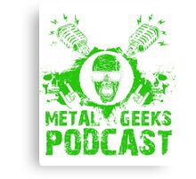 Metal Geeks - Limited Green Zombie Canvas Print