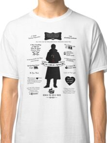 "Captain Hook ""Iconic Quotes"" Silhouette Design Classic T-Shirt"