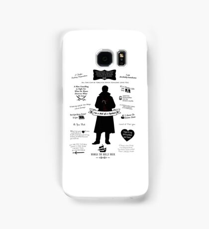 """Captain Hook """"Iconic Quotes"""" Silhouette Design Samsung Galaxy Case/Skin"""