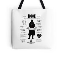 "Captain Hook ""Iconic Quotes"" Silhouette Design Tote Bag"