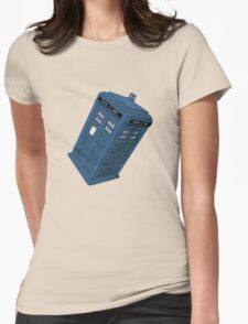 Flying TARDIS Womens Fitted T-Shirt