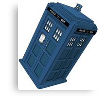 Flying TARDIS Canvas Print