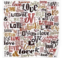 Vintage Love Typography  Poster