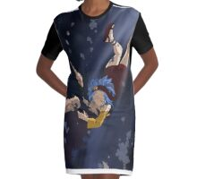 gajeel and levy first kiss Graphic T-Shirt Dress
