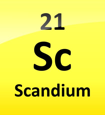 Scandium Element Symbol - Periodic Table Sticker