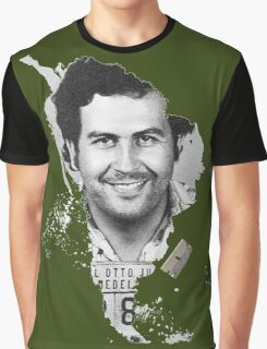 Pablo Escobar Mugshot Continent 2 Graphic T-Shirt