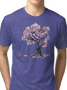 Forest Spirit Sumi-e Tri-blend T-Shirt