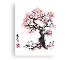 Forest Spirit Sumi-e Canvas Print