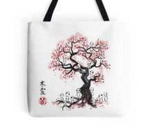 Forest Spirit Sumi-e Tote Bag