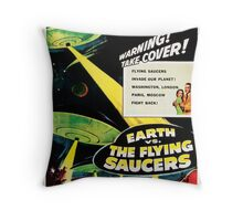 Earth vs. The Flying Saucers Throw Pillow