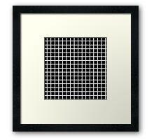 black graph Framed Print