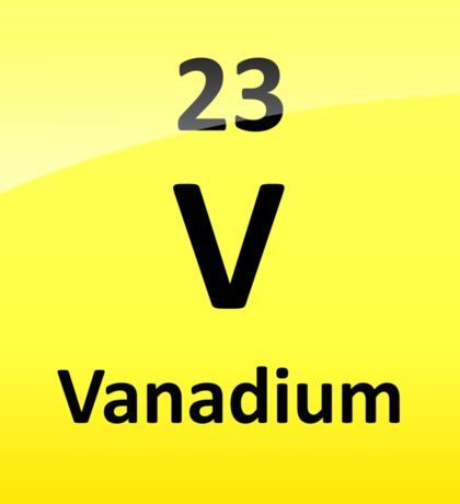 Vanadium Element Symbol - Periodic Table Sticker