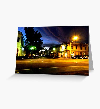 Brunswisk and Kerr Side By Night Greeting Card