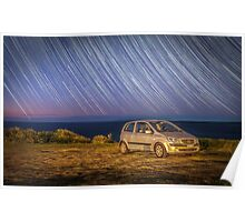 Star trails with my little car Poster