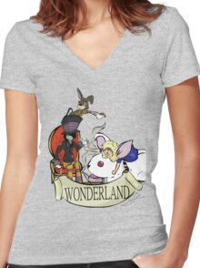 """""""Mad Tea Party"""" T-Shirt Women's Fitted V-Neck T-Shirt"""