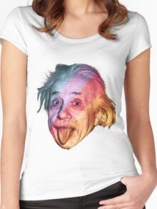 Pop Einstein Women's Fitted Scoop T-Shirt