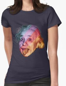 Pop Einstein Womens Fitted T-Shirt