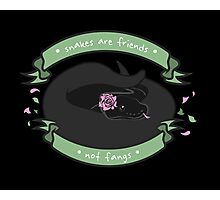 Snakes are Friends - Not Fangs Photographic Print