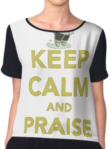 Brother of Lordran - keep calm and Praise the sun T-shirt  Chiffon Top
