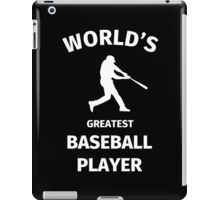 World's Greatest Baseball Player iPad Case/Skin