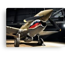 Tiger Shark Airplane WWII  Canvas Print