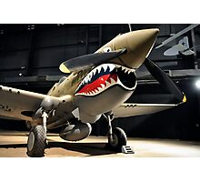 Tiger Shark Airplane WWII  Photographic Print