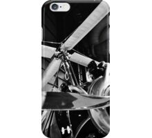 Black and White Silver Propellers  iPhone Case/Skin