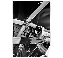 Black and White Silver Propellers  Poster