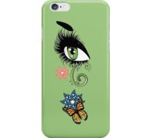 Summer Eyes with Floral iPhone Case/Skin