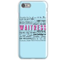Waitress Original Cast Recording iPhone Case/Skin